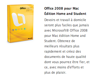 Offre Microsoft office
